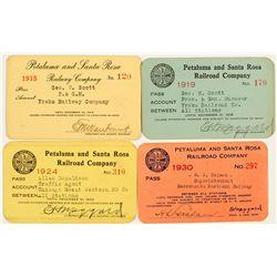 Petaluma & Santa Rosa Railway Company Annual Passes