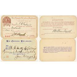 Rio Grande & Rio Grande Western Railway Annual Passes (1890 & 1891)