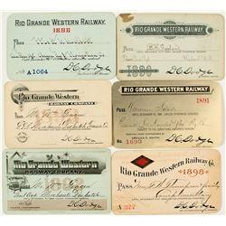 Rio Grande Western Railway Annual Pass Collection (1890s)