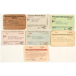 Sacramento Northern Railroad Annual Pass Collection