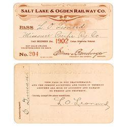 Salt Lake & Ogden Railway Co. Annual Pass (1902)
