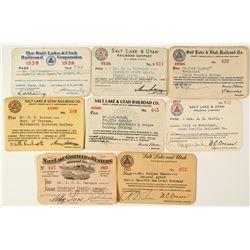 Salt Lake & Utah Railroad Co. Annual Pass Collection
