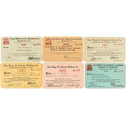 San Diego & Arizona Railway Co. Passes (6)
