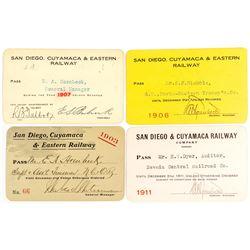 San Diego, Cuyamaca & Eastern Railway Pass Collection