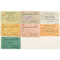 San Joaquin & Eastern Railroad Co. Annual Pass Collection
