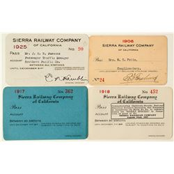 Sierra Railway Company of California Pass Collection