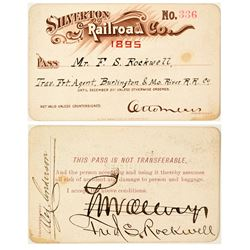 Silverton Railroad Company Annual Pass (1895)