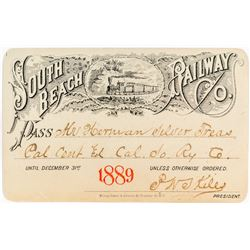 South Beach Railway Company Annual Pass (1889)