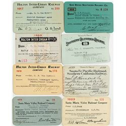 Southern California Railroads Pass Collection
