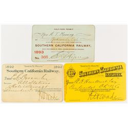 Southern California Railway Annual Passes (1890s)