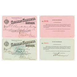 Southern California Railway Annual Passes (1893 & 1894)