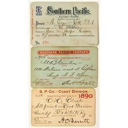 Southern Pacific Railroad Annual Passes (1890s)