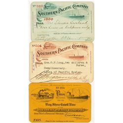 Southern Pacific Railroad Annual Passes (early 1900s)
