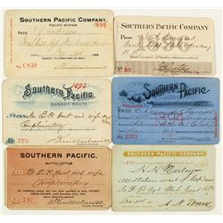 Southern Pacific Railroad Pass Collection (1890s)