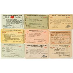Spokane Railroads Annual Pass Collection