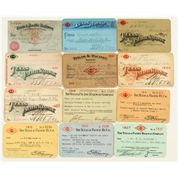 Texas & Pacific Railway Co. Annual Pass Collection