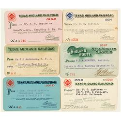 Texas Midland Railroad Pass Collection