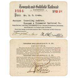 Tonopah & Goldfield Railroad Company Pass (1914)