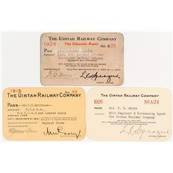 Uintah Railway Company (Colorado & Utah Gilsonite) Annual Passes
