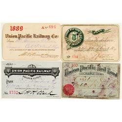 Union Pacific Railroad Annual Pass Collection (1880s)