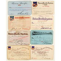Union Pacific Railroad Annual Pass Collection (8)