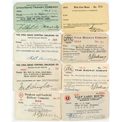 Utah Railroad Annual Pass Collection