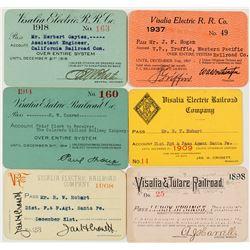 Visalia & Tulare Railroad / Visalia Electric Annual Pass Collection