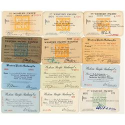 Western Pacific Railway Co. Pass Collection