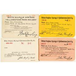 White Sulphur Springs & Yellowstone Park Railway Pass Collection