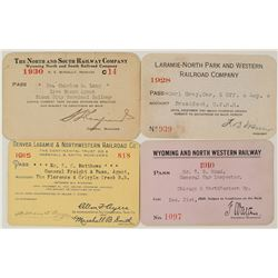 Wyoming Railroads Annual Pass Collection