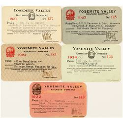 Yosemite Valley Railroad Pass Collection