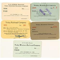 Yreka Railroad Co. Annual Pass Collection