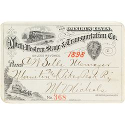 Northwestern Stage & Transportation Company Annual Pass (1898)