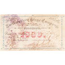 Northwestern Stage Company (Colorado) Annual Pass (1880)