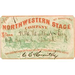 Northwestern Stage Company Annual Pass (1873)