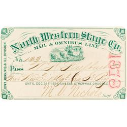 Northwestern Stage Company Annual Pass (1878)