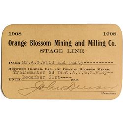 Orange Blossom Mining & Milling Co. Stage Line Pass (1908) ( Mojave Desert Ghost Town)