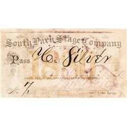 South Park Stage Company Annual Pass (1880)