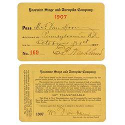 Yosemite Stage & Turnpike Company Annual Pass (1907)