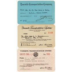 Yosemite Transportation Company Pass Collection
