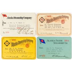 Alaska Steamship Company Annual Passes: 1913,1914, 1920, & 1923