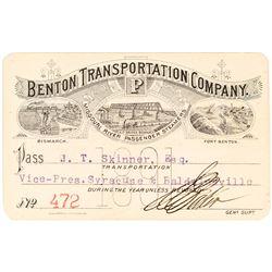 Benton Transportation Company Steamer Pass (1891)