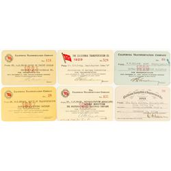 California Transportation Company Steamer Pass Collection