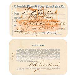 Columbia River & Puget Sound Navigation Co. Steamer Pass (1894)