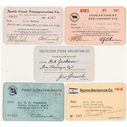 Five Different US Steamer Annual Passes