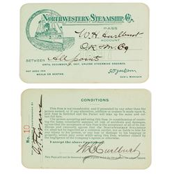 Northwestern Steamship Co. Annual Pass (1897) (Alaska Gold Rush)