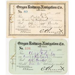 Oregon Railroad & Navigation Co. Pass Duo (Steamer & Railroad)