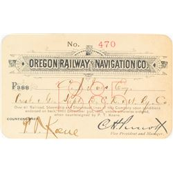Oregon Railway & Navigation Company Steamer Pass (1885)