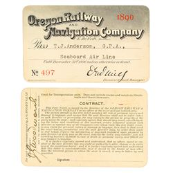 Oregon Railway & Navigation Company Steamer Pass (1896)