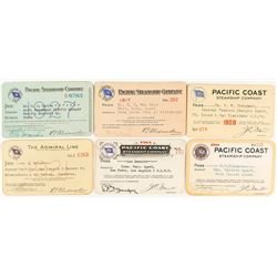 Pacific Coast Steamship Company Annual Pass Collection